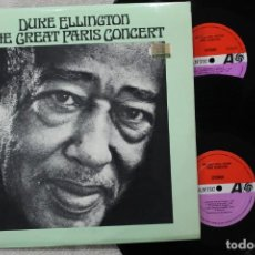 Discos de vinilo: DUKE ELLINGTON THE GREAT PARIS CONCERT 2LPS DOBLE VINYLS MADE IN SPAIN 1973. Lote 139548382