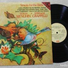 Discos de vinilo: YEHUDI MENUHIN & STEPHANE GRAPPELLI ESTRICTAMENTE PARA PAJAROS LP VINYL MADE IN SPAIN 1980. Lote 139550174