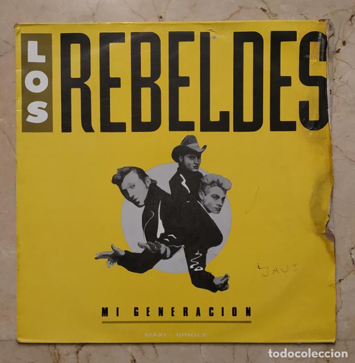 MAXI SINGLE LOS REBELDES - MI GENERACIÓN - EPIC 1988 (Música - Discos de Vinilo - Maxi Singles - Rock & Roll)