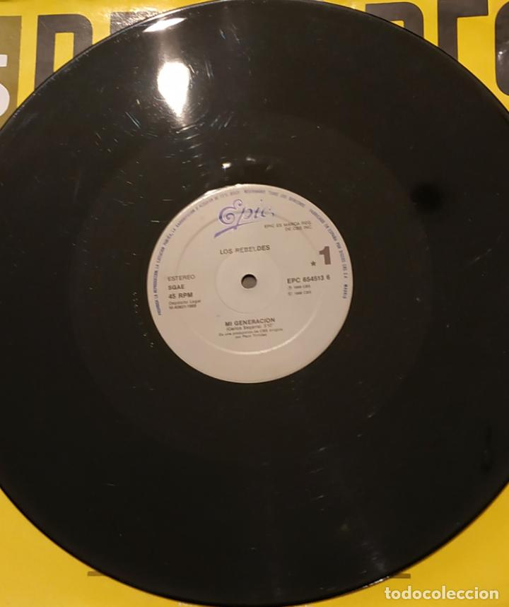 Discos de vinilo: MAXI SINGLE LOS REBELDES - MI GENERACIÓN - EPIC 1988 - Foto 3 - 139575490