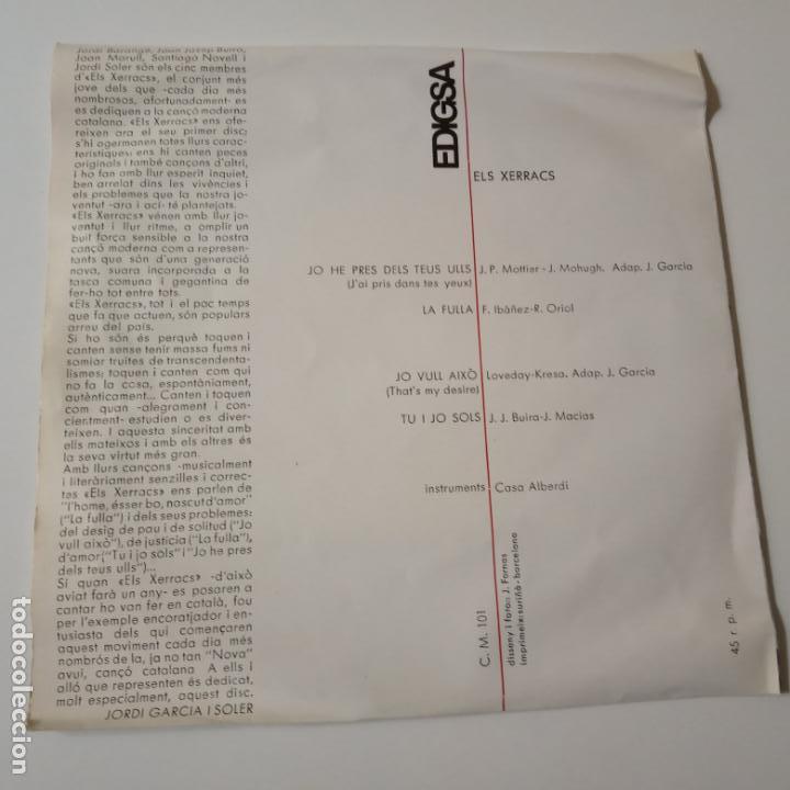 Discos de vinilo: ELS XERRACS- LA FULLA +3- TOTI SOLER- EP 1965- EXC. ESTADO. - Foto 2 - 139601054