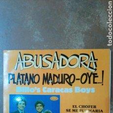 Disques de vinyle: ORQUESTA BILLO'S CARACAS BOYS. ABUSADORA, PLATANO MADURO,ETC. ARIES 1986. SANTA CRUZ TENERIFE. LP. Lote 139604136