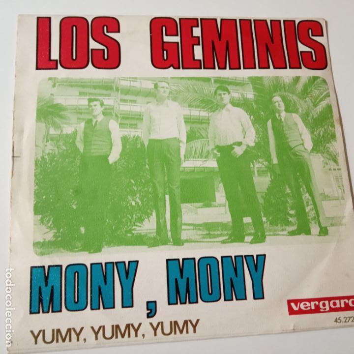 Discos de vinilo: LOS GEMINIS- MONY, MONY - SINGLE 1968- VINILO EXC. ESTADO. - Foto 2 - 139605854