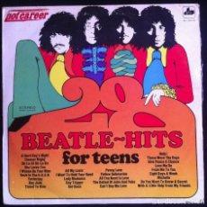 Discos de vinilo: JOHN HAMILTON BAND - 28 BEATLE-HITS FOR TEENS. Lote 139608114
