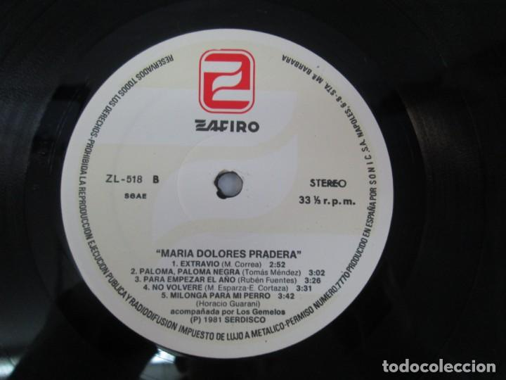 Discos de vinilo: MARIA DOLORES PRADERA. LP VINILO. LOTE 10 DISCOS. ZAFIRO. VER FOTOGRAFIAS ADJUNTAS - Foto 17 - 139619358