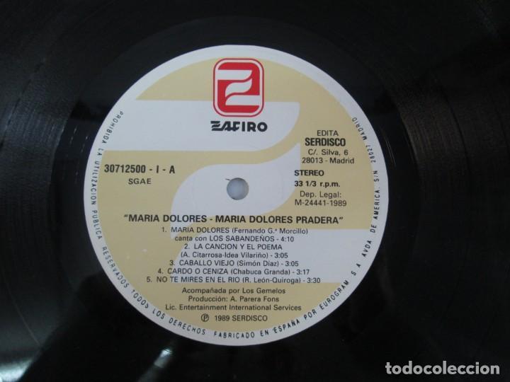 Discos de vinilo: MARIA DOLORES PRADERA. LP VINILO. LOTE 10 DISCOS. ZAFIRO. VER FOTOGRAFIAS ADJUNTAS - Foto 39 - 139619358