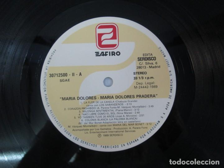 Discos de vinilo: MARIA DOLORES PRADERA. LP VINILO. LOTE 10 DISCOS. ZAFIRO. VER FOTOGRAFIAS ADJUNTAS - Foto 45 - 139619358