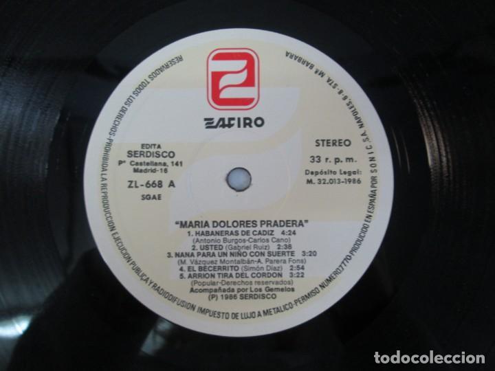 Discos de vinilo: MARIA DOLORES PRADERA. LP VINILO. LOTE 10 DISCOS. ZAFIRO. VER FOTOGRAFIAS ADJUNTAS - Foto 86 - 139619358