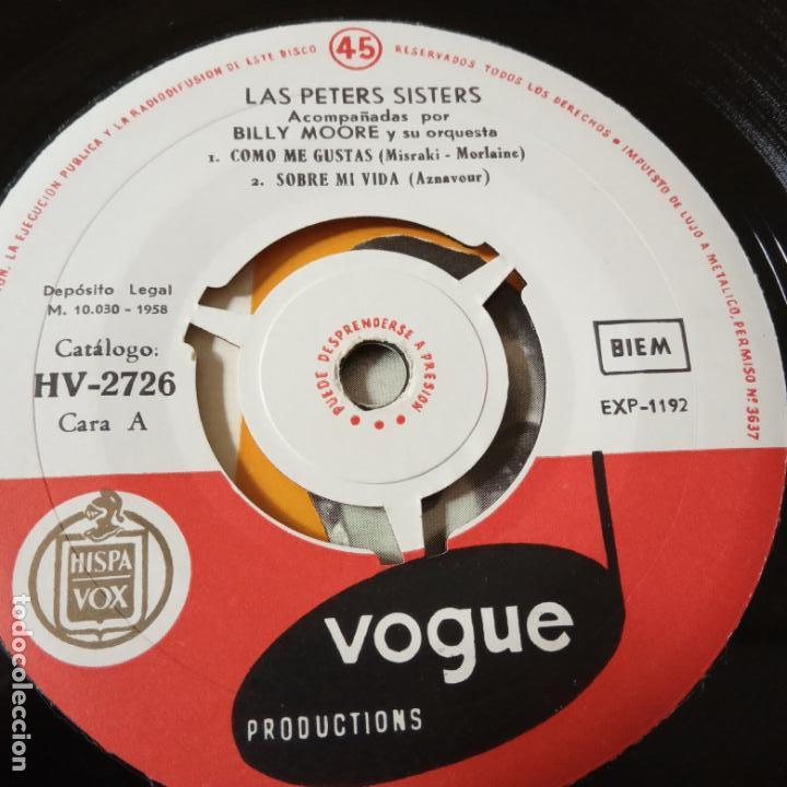 Discos de vinilo: PETERS SISTERS- COMO ME GUSTAS- SPAIN EP 1958 + TRICENTRO- VINILO COMO NUEVO. - Foto 3 - 139620214