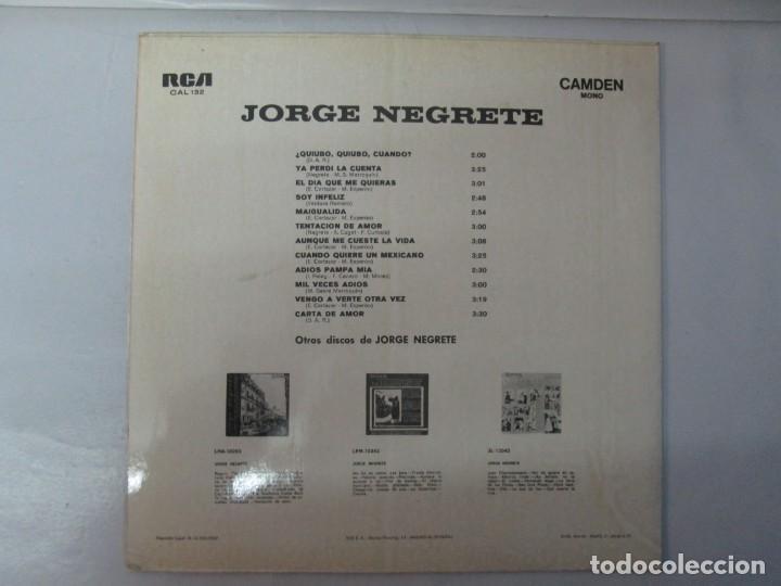 Discos de vinilo: JORGE NEGRETE. 3 LP VINILO. RCA. VER FOTOGRAFIAS ADJUNTAS. - Foto 4 - 139622606
