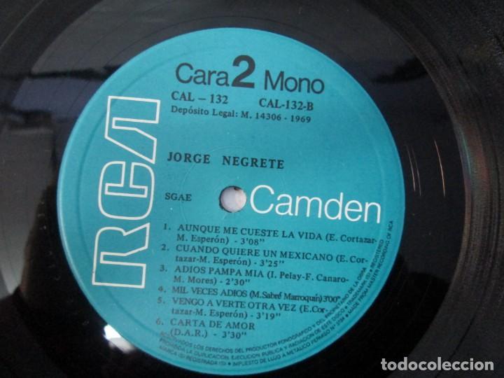 Discos de vinilo: JORGE NEGRETE. 3 LP VINILO. RCA. VER FOTOGRAFIAS ADJUNTAS. - Foto 9 - 139622606