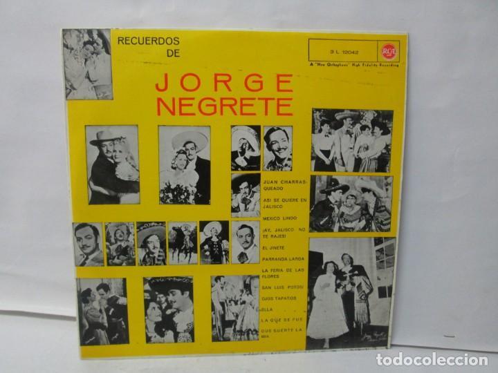 Discos de vinilo: JORGE NEGRETE. 3 LP VINILO. RCA. VER FOTOGRAFIAS ADJUNTAS. - Foto 10 - 139622606