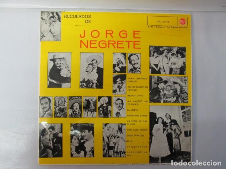 Discos de vinilo: JORGE NEGRETE. 3 LP VINILO. RCA. VER FOTOGRAFIAS ADJUNTAS. - Foto 11 - 139622606
