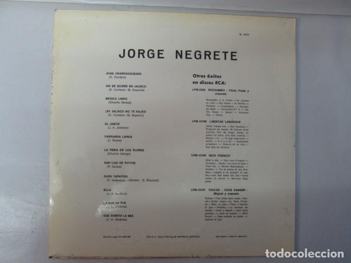 Discos de vinilo: JORGE NEGRETE. 3 LP VINILO. RCA. VER FOTOGRAFIAS ADJUNTAS. - Foto 12 - 139622606