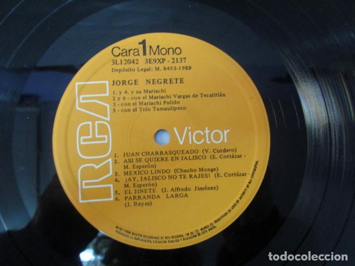 Discos de vinilo: JORGE NEGRETE. 3 LP VINILO. RCA. VER FOTOGRAFIAS ADJUNTAS. - Foto 15 - 139622606