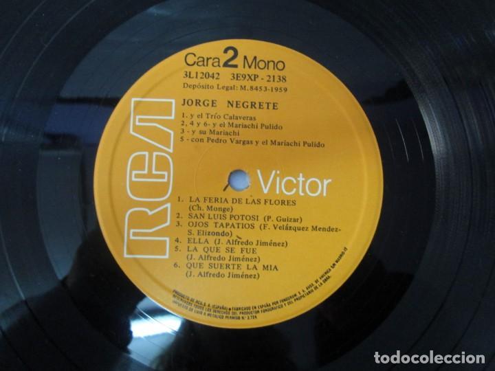 Discos de vinilo: JORGE NEGRETE. 3 LP VINILO. RCA. VER FOTOGRAFIAS ADJUNTAS. - Foto 17 - 139622606