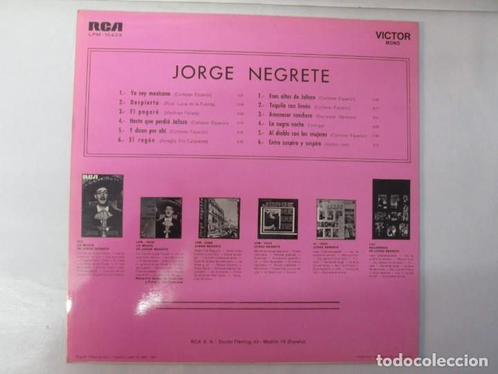 Discos de vinilo: JORGE NEGRETE. 3 LP VINILO. RCA. VER FOTOGRAFIAS ADJUNTAS. - Foto 20 - 139622606