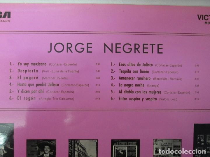 Discos de vinilo: JORGE NEGRETE. 3 LP VINILO. RCA. VER FOTOGRAFIAS ADJUNTAS. - Foto 21 - 139622606