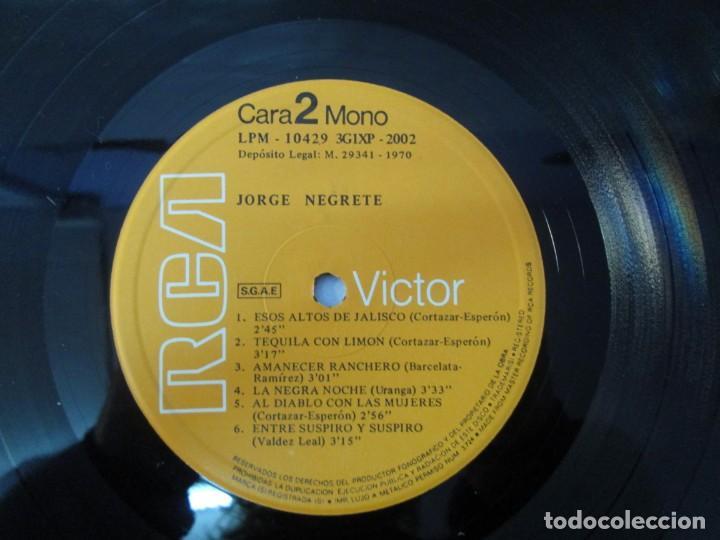 Discos de vinilo: JORGE NEGRETE. 3 LP VINILO. RCA. VER FOTOGRAFIAS ADJUNTAS. - Foto 25 - 139622606