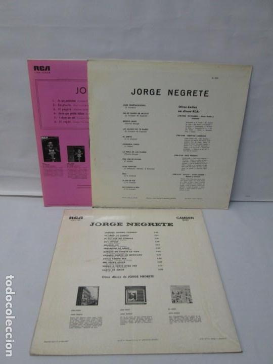 Discos de vinilo: JORGE NEGRETE. 3 LP VINILO. RCA. VER FOTOGRAFIAS ADJUNTAS. - Foto 26 - 139622606