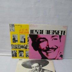 Discos de vinilo: JORGE NEGRETE. 3 LP VINILO. RCA. VER FOTOGRAFIAS ADJUNTAS. . Lote 139622606