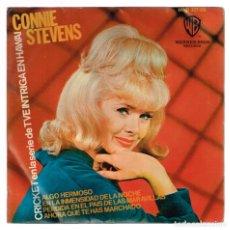 Discos de vinilo: CONNIE STEVENS. AHORA QUE TE HAS MARCHADO. HWB 327-05 WARNER BROS. RECORDS 1965 DISCO. Lote 139622750