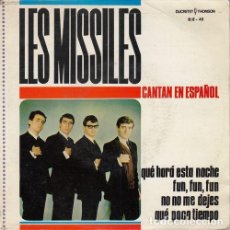 Discos de vinilo: LES MISSILES - QUE HARA ESTA NOCHE - EP DE VINILO CANTADO EN ESPAÑOL. Lote 139625950