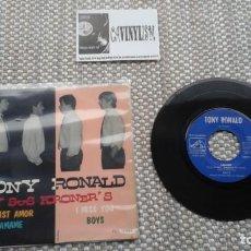 Discos de vinilo: TONY RONALD Y SUS KRONER'S ?– TWIST AMOR / I MISS YOU / ÁMAME / BOYS EP LA VOZ DE SU AMO. Lote 139626378
