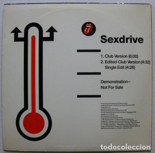 Discos de vinilo: ROLLING STONES - Sexdrive 1991 RARO PROMOCIONAL MAXI 3 TEMAS, ORG USA EDT, exc - Foto 3 - 139635598