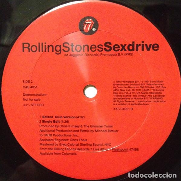 Discos de vinilo: ROLLING STONES - Sexdrive 1991 RARO PROMOCIONAL MAXI 3 TEMAS, ORG USA EDT, exc - Foto 6 - 139635598