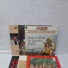 Discos de vinilo: JARCHA. LP VINILO. 6 DISCOS. EN EL NOMBRE DE ESPAÑA PAZ. NUESTRA ANDALUCIA. ANDALUCIA VIVE...VER FOT. Lote 139637758