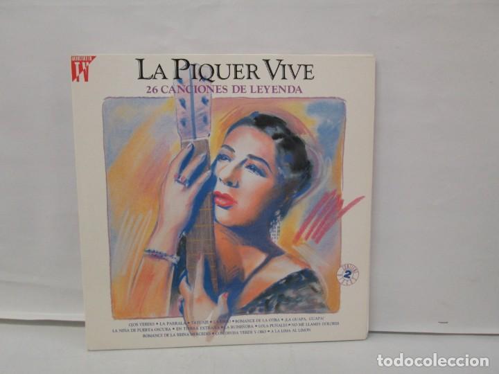 LA PIQUER VIVE. 26 CANCIONES DE LEYENDA. LP VINILO. EMI ODEON. 1991. VER FOTOGRAFIAS ADJUNTAS (Música - Discos - LP Vinilo - Flamenco, Canción española y Cuplé)