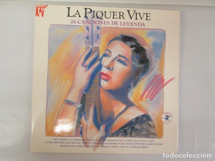 Discos de vinilo: LA PIQUER VIVE. 26 CANCIONES DE LEYENDA. LP VINILO. EMI ODEON. 1991. VER FOTOGRAFIAS ADJUNTAS - Foto 2 - 139638370