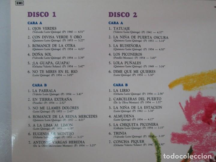 Discos de vinilo: LA PIQUER VIVE. 26 CANCIONES DE LEYENDA. LP VINILO. EMI ODEON. 1991. VER FOTOGRAFIAS ADJUNTAS - Foto 3 - 139638370
