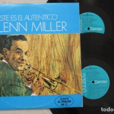 Discos de vinilo: GLENN MILLER ESTE ES EL AUTENTICO GLENN MILLER 2LP DOBLE VINYL MADE IN SPAIN 1974. Lote 139658534