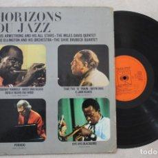Discos de vinilo: HORIZONS DU JAZZ LOUIS ARMSTRONG DUKE ELLIGTON LP VINYL MADE IN HOLLAND. Lote 139658922