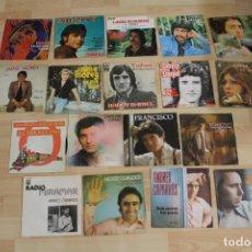 Discos de vinilo: LOTE 18 SINGLES FRANCISCO CARLOS CANO DANY DANIEL ROSA LEON JAIME MOREY MOCHI MONTY CAPARROS ETC. Lote 139667406