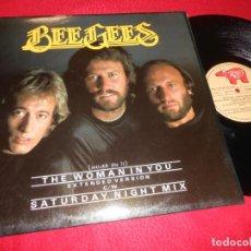 Discos de vinilo: THE BEE GEES SATURDAY NIGHT SEGWAY/THE WOMAN IN YOU MX MAXI 1983 RSO EDICION ESPAÑOLA SPAIN. Lote 139670038