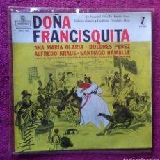 Discos de vinilo: VINILO EP DOÑA FRANCISQUITA ZARZUELA. Lote 139671530