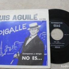Discos de vinilo: SINGLE LUIS AGUILE PIGALLE/NO ES... 1964 DISCO PROMOCIONAL ELECTRODOMESTICOS ODAG . Lote 139688874