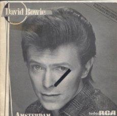 Discos de vinilo: DAVID BOWIE / AMSTERDAM / RAGAZZO SOLO, RAGAZZA SOLA (SPACE ODITY) SINGLE PROMO 1983. Lote 139690754