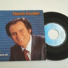 Discos de vinilo: MANOLO ESCOBAR : EL CORAJE / NACISTE PARA MI SG BELTER 1983 PRODUCCION MANUEL CUBEDO. Lote 139693054