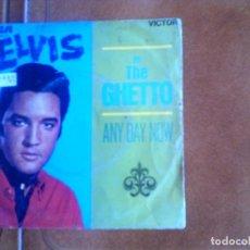 Discos de vinilo: SINGLE DE ELVIS IN THE GUETTO AÑO 1969. Lote 139698450