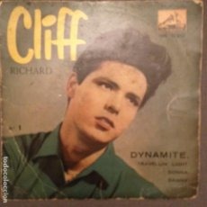 Discos de vinilo: CLIFF RICHARD CON SHADOWS : DYNAMITE,TRAVELLIN LIGHT,DONNA,DANNY ED.ESPAÑA 1959. Lote 139704978