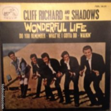 Discos de vinilo: CLIFF RICHARD Y SHADOWS: WONDERFUL LIFE, DO YOU REMEMBER + 2 ED. ESPAÑA 1964. Lote 139705982