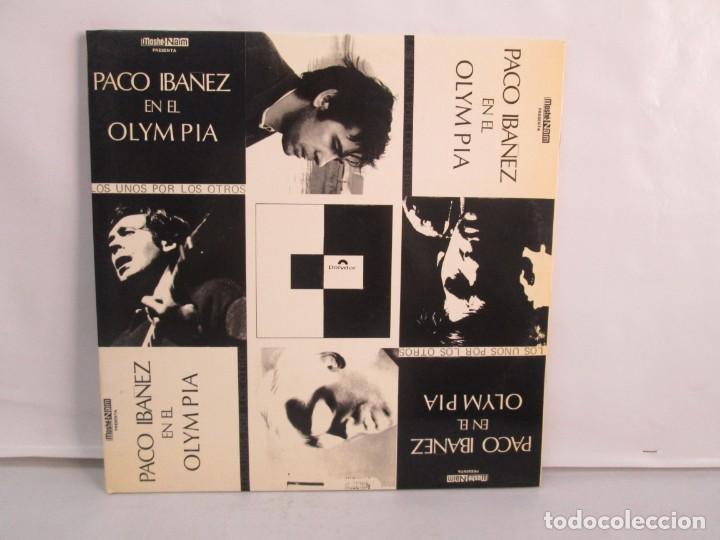 PACO IBAÑEZ EN EL OLYMPIA. LOS UNOS POR LOS OTROS. LP VINILO. POLYDOR. 1972. VER FOTOGRAFIAS ADJUNTA (Música - Discos de Vinilo - EPs - Cantautores Españoles)