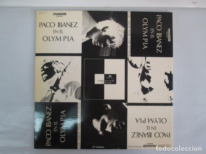 Discos de vinilo: PACO IBAÑEZ EN EL OLYMPIA. LOS UNOS POR LOS OTROS. LP VINILO. POLYDOR. 1972. VER FOTOGRAFIAS ADJUNTA - Foto 11 - 139732202