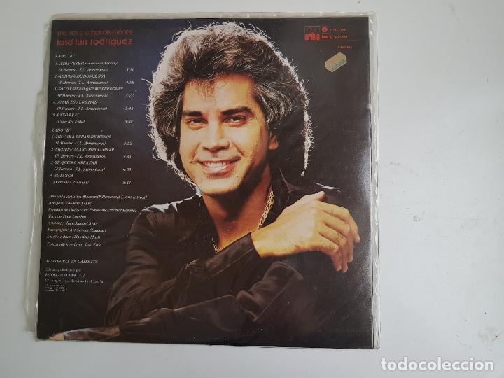 Discos de vinilo: José Luis Rodriguez - Me vas a echar de menos (VINILO) - Foto 2 - 139733742