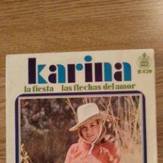 Discos de vinilo: DISCO VINILO SINGLES KARINA. Lote 139743058