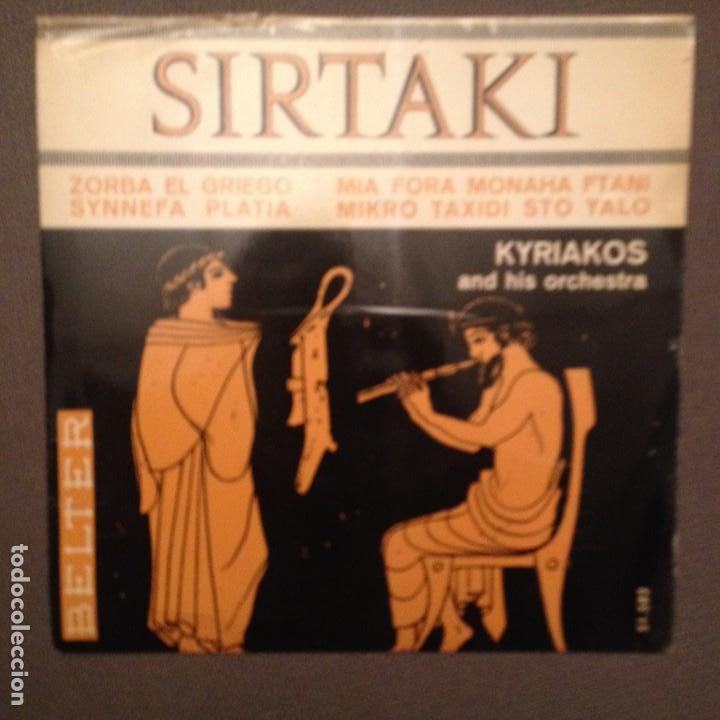 KYRIAKOS AND HIS ORCHESTRA: SIRTAKI,ZORBA EL GRIEGO + 3 BELTER 1965 (Música - Discos de Vinilo - EPs - Étnicas y Músicas del Mundo)